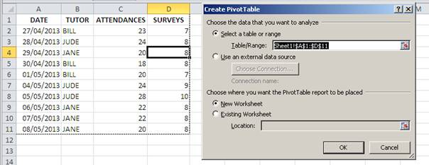 How To Create A Pivot Table With Expanding Data Ranges