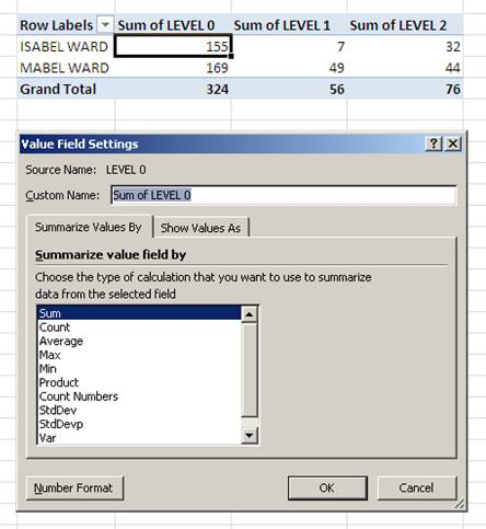 How to change multiple pivot table fields to Sum Function -